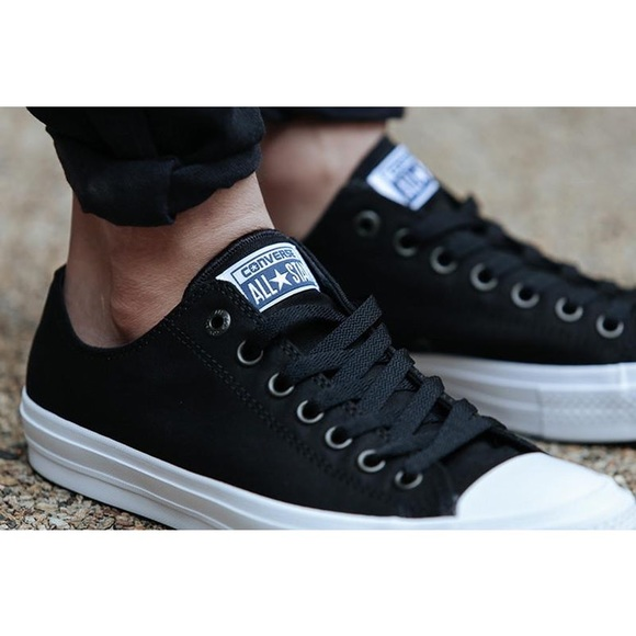 Converse Chuck II Low Top Black M 7.5 W 9.5 NWT